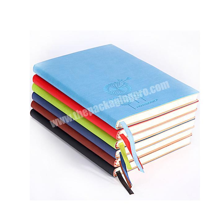 High quality custom debossed logo leather notebook notepad