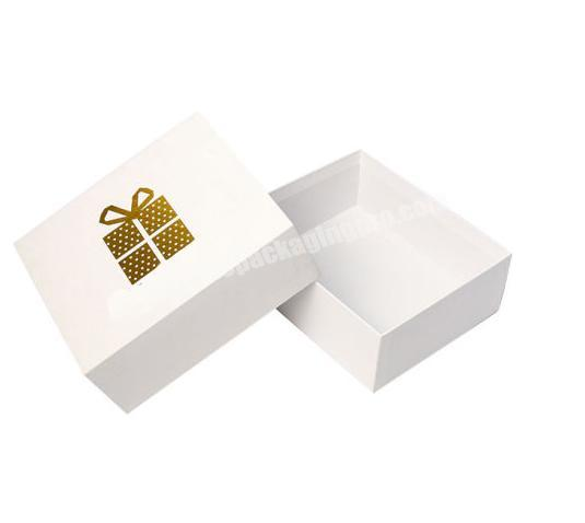 High quality Custom Gold Hot Stamping Logo For Baby Cloth Packaging Box