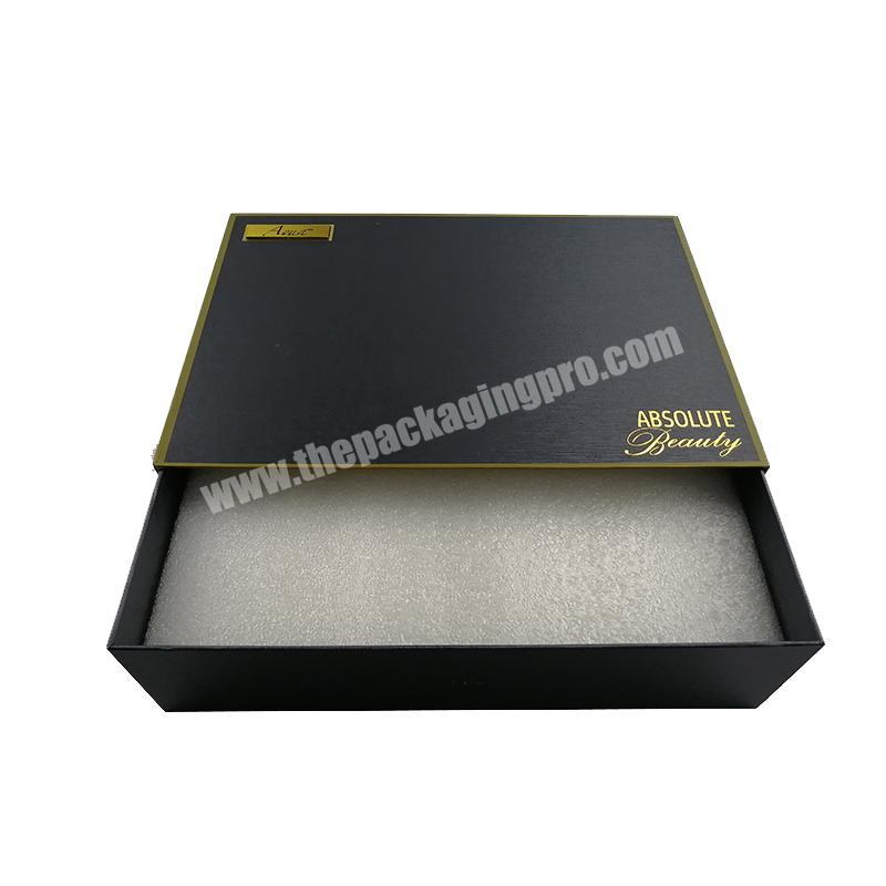 High Quality Custom Logo Cloth Packaging Drawer Storage Box Cardboard Sliding