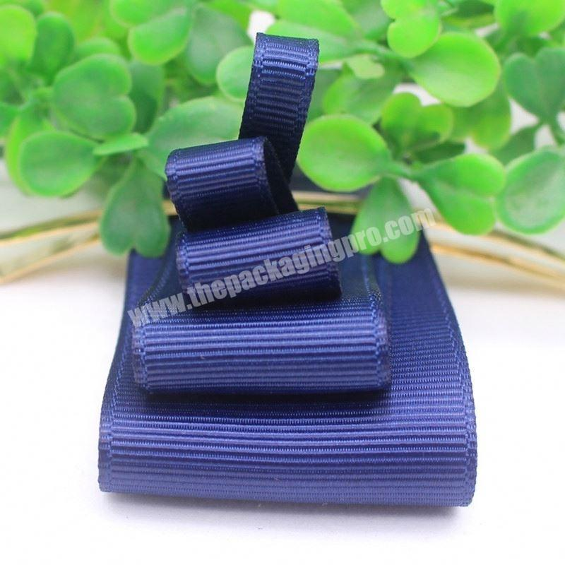 Factory High quality custom logo polyester grosgrain ribbon