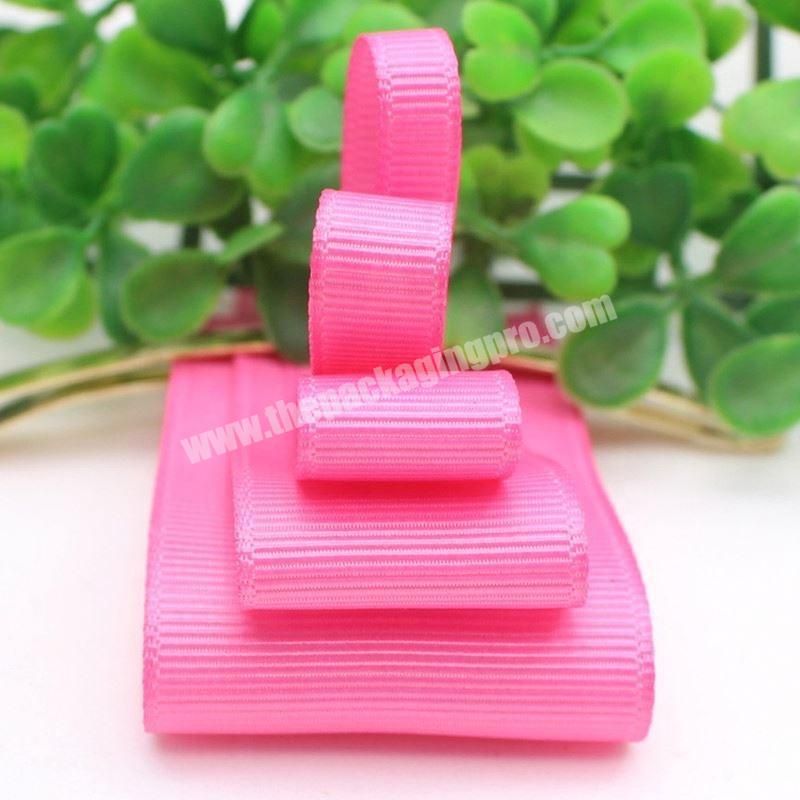 Supplier High quality custom logo polyester grosgrain ribbon