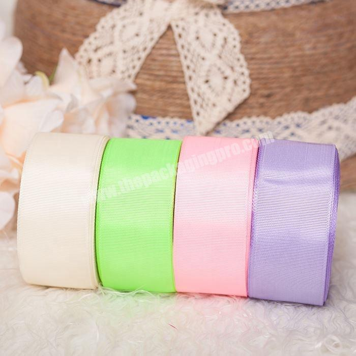 Manufacturer High quality custom logo polyester grosgrain ribbon
