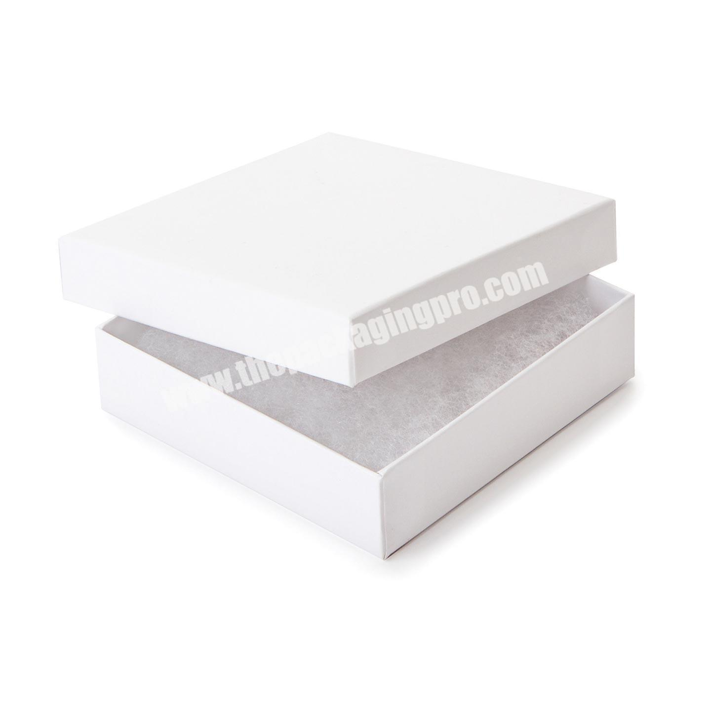 High quality custom matte white jewelry gift packaging box