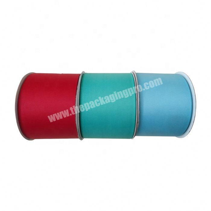Wholesale High quality custom packing 75mm grosgrain ribbon
