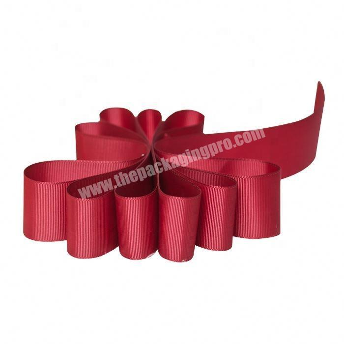 Manufacturer High quality custom packing 75mm grosgrain ribbon
