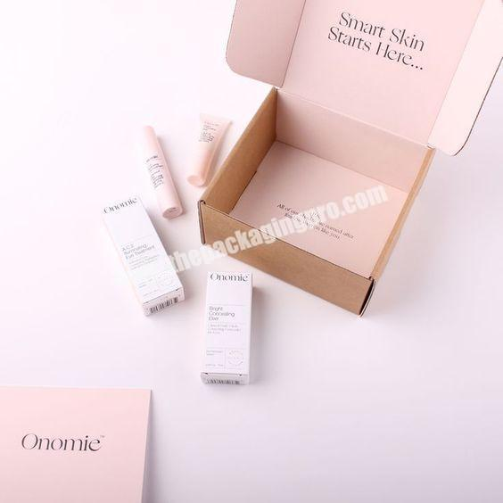 High Quality Custom Plain Pink Color Large Laptop Cardboard Premium Shipping Boxes Corrugated Cosmetic Lightweight Shipping Box