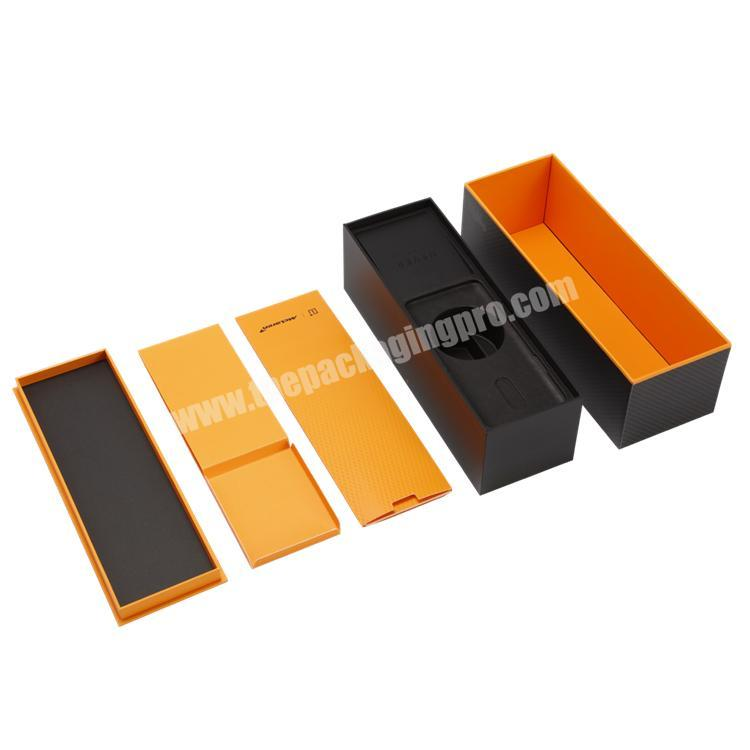 Wholesale High Quality Customized Creative Design Lid and Base Paper Box with Inner Tray for CigaretteElectronics