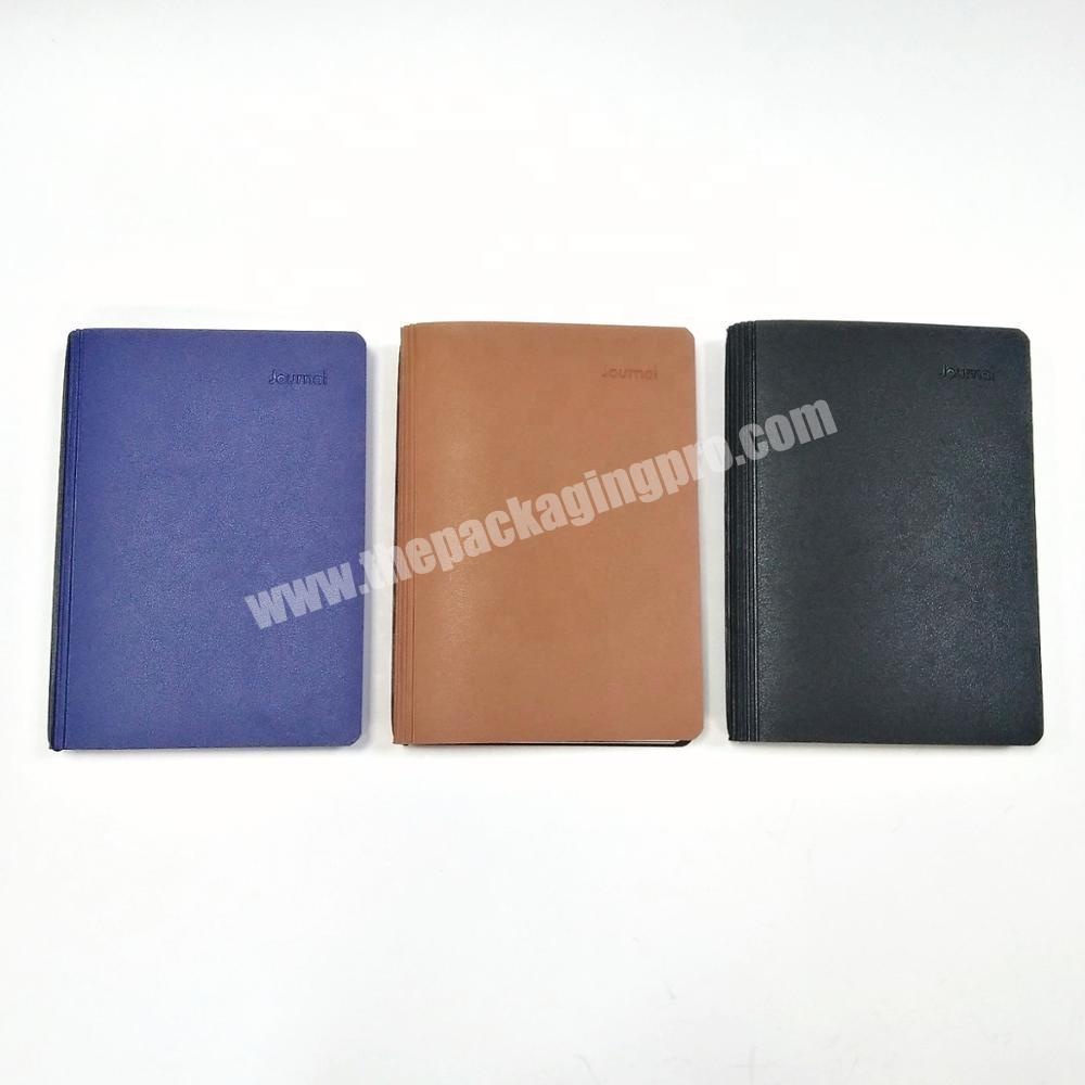 Factory High quality customized diary pu leather planner office school supplier notebook