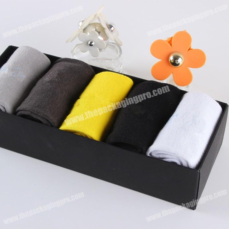 High Quality Gift Packaging Socks Luxury Strengthen Paper Sock Box Service Exquisite Gift Boxes