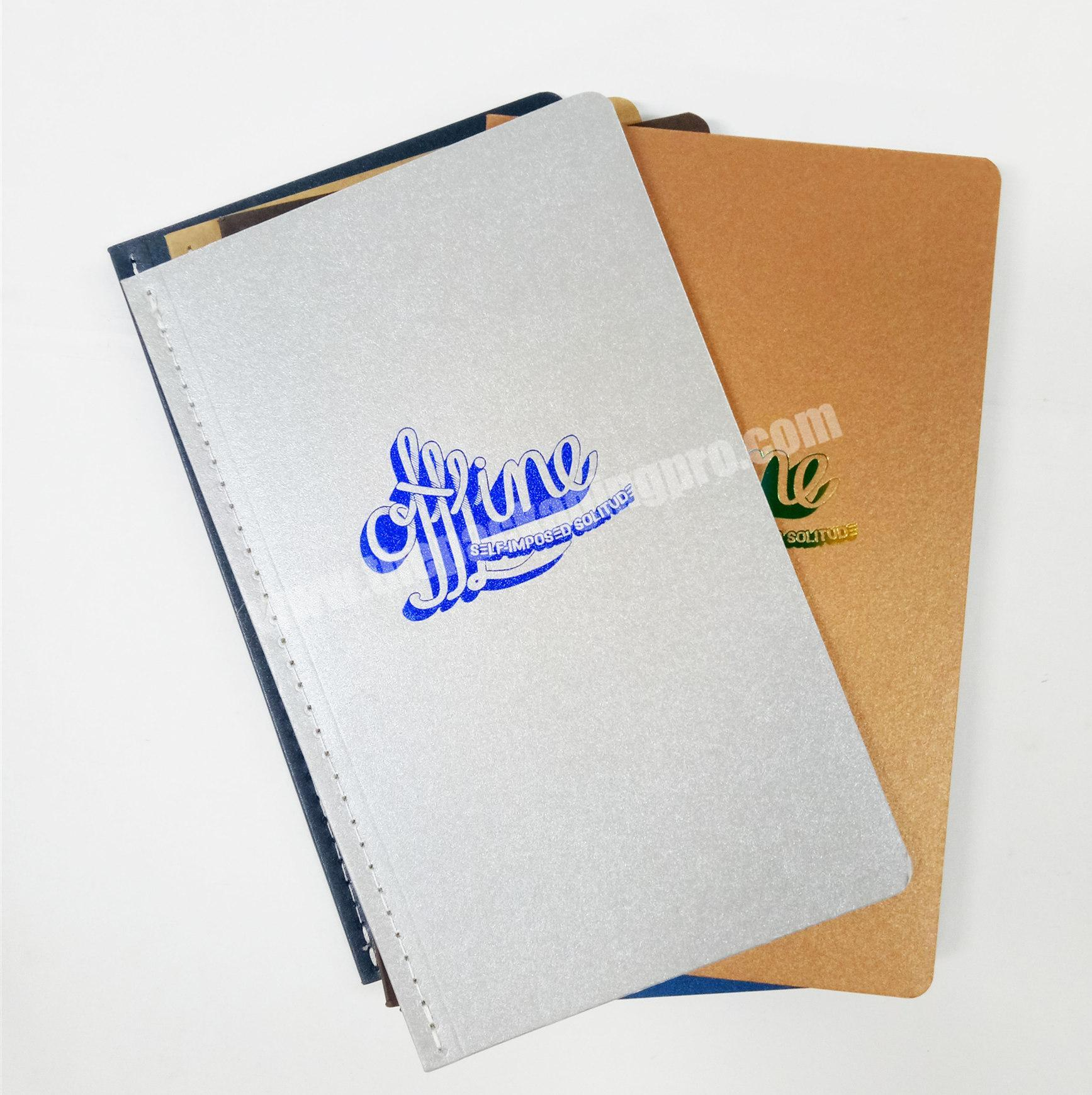 High quality kraft notebook student diary soft cover journal custom size planner