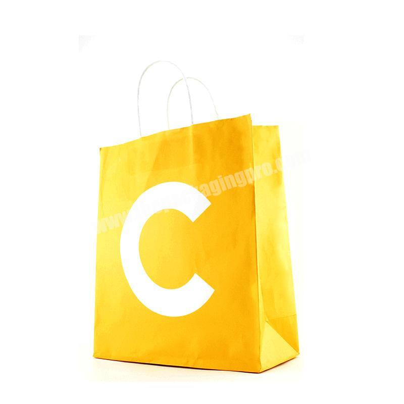 High Quality Kraft Paper Bag Reusable Eco Friendly Shopping Bag Food Packaging Takeout Tote Bags