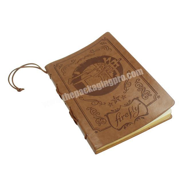 High Quality Loose Left Personalised Travel Leather Journal Diary Notepad