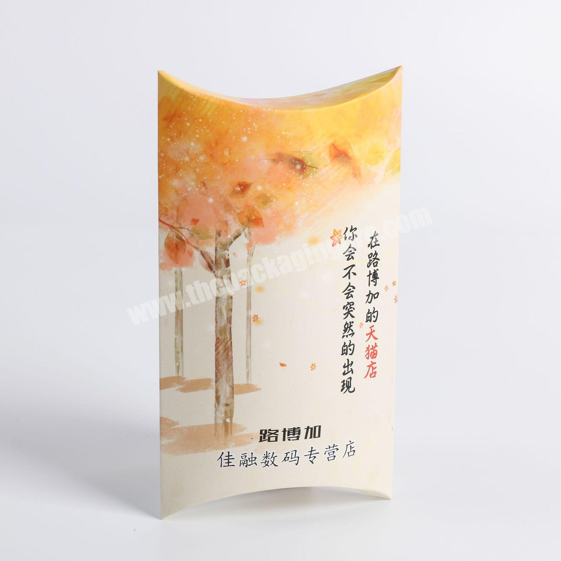 high quality pillow boxes packaging pillow box hair packaging box candy with a cheap price