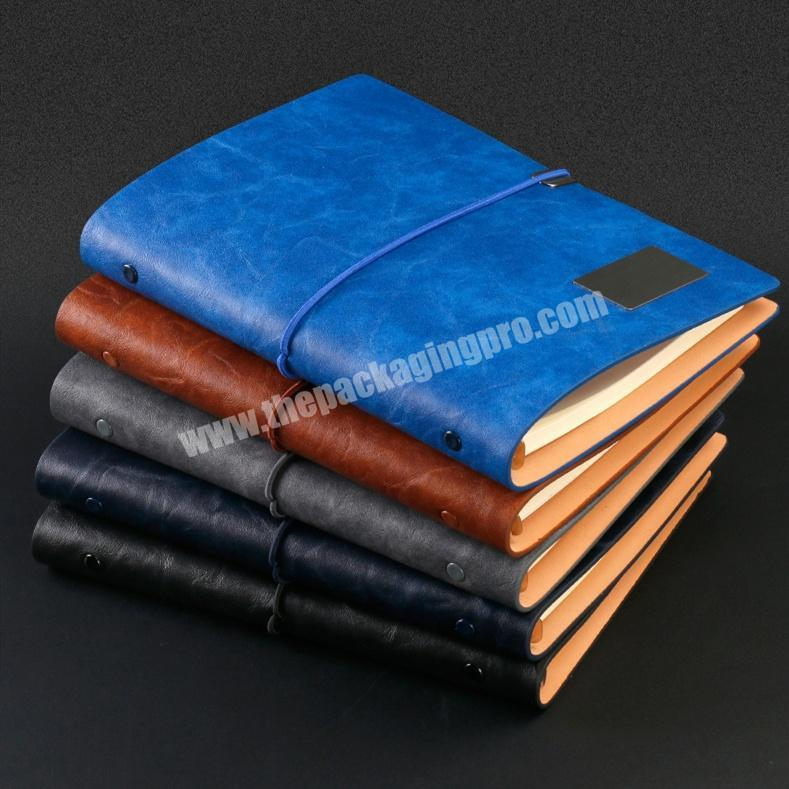 High Quality PU Leather Agenda Customized Composition Notebook Journal Diary