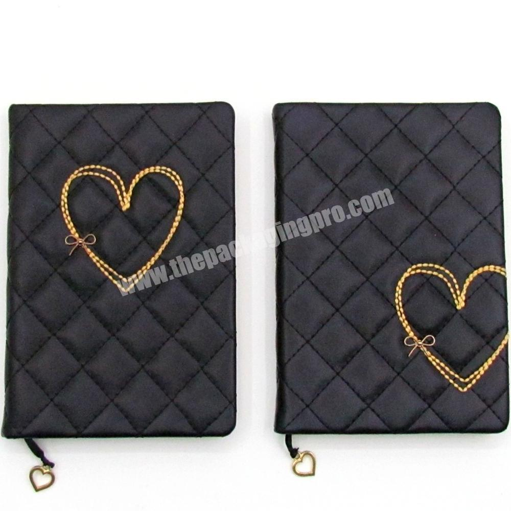 Wholesale High Quality PU Leather Cover Student Notebook A5 Cute Heart Diary For Girl