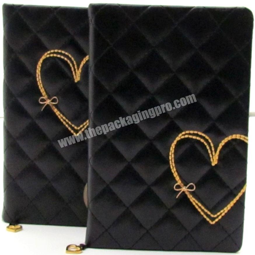 Supplier High Quality PU Leather Cover Student Notebook A5 Cute Heart Diary For Girl