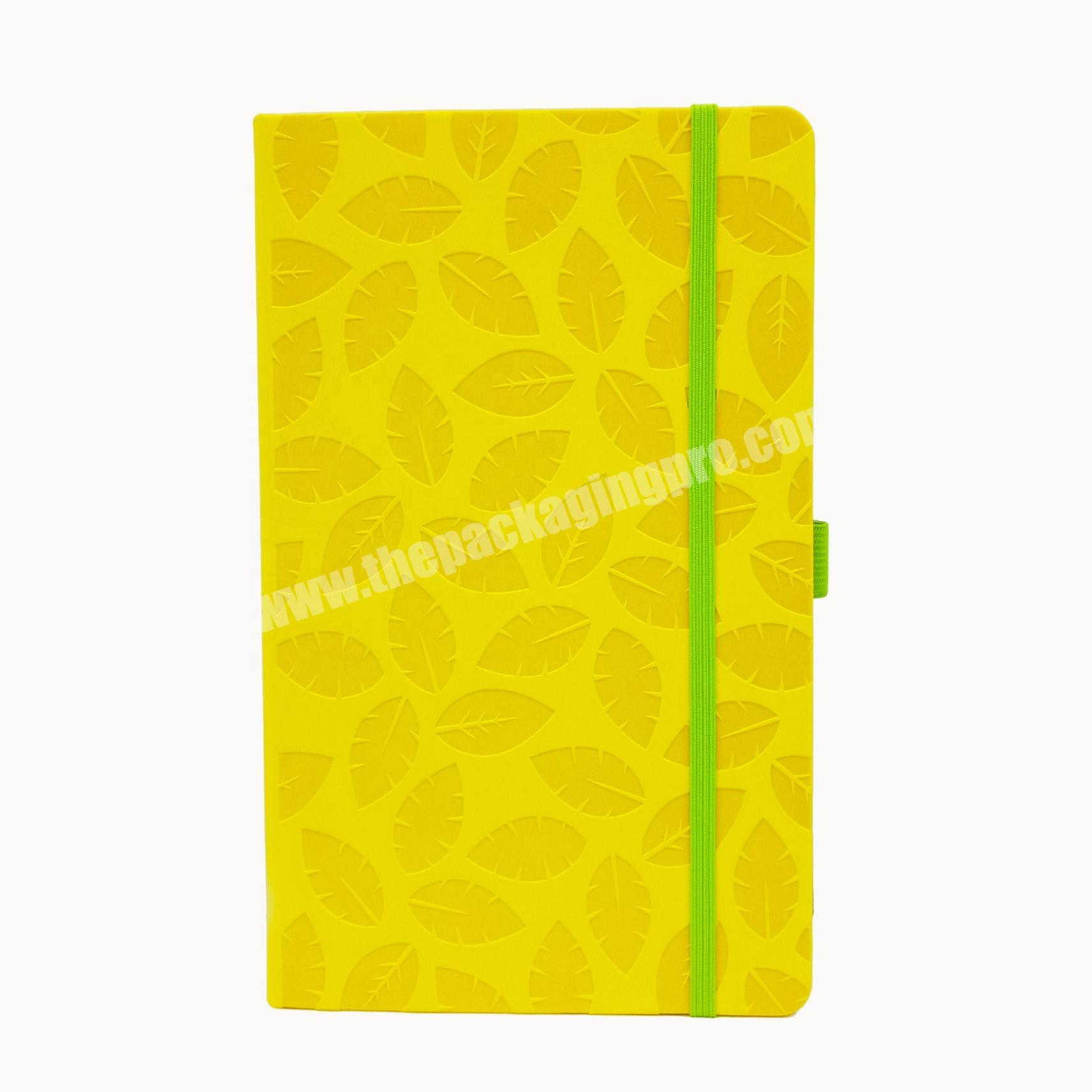High quality pu leather notebook school diary for student organizer planner