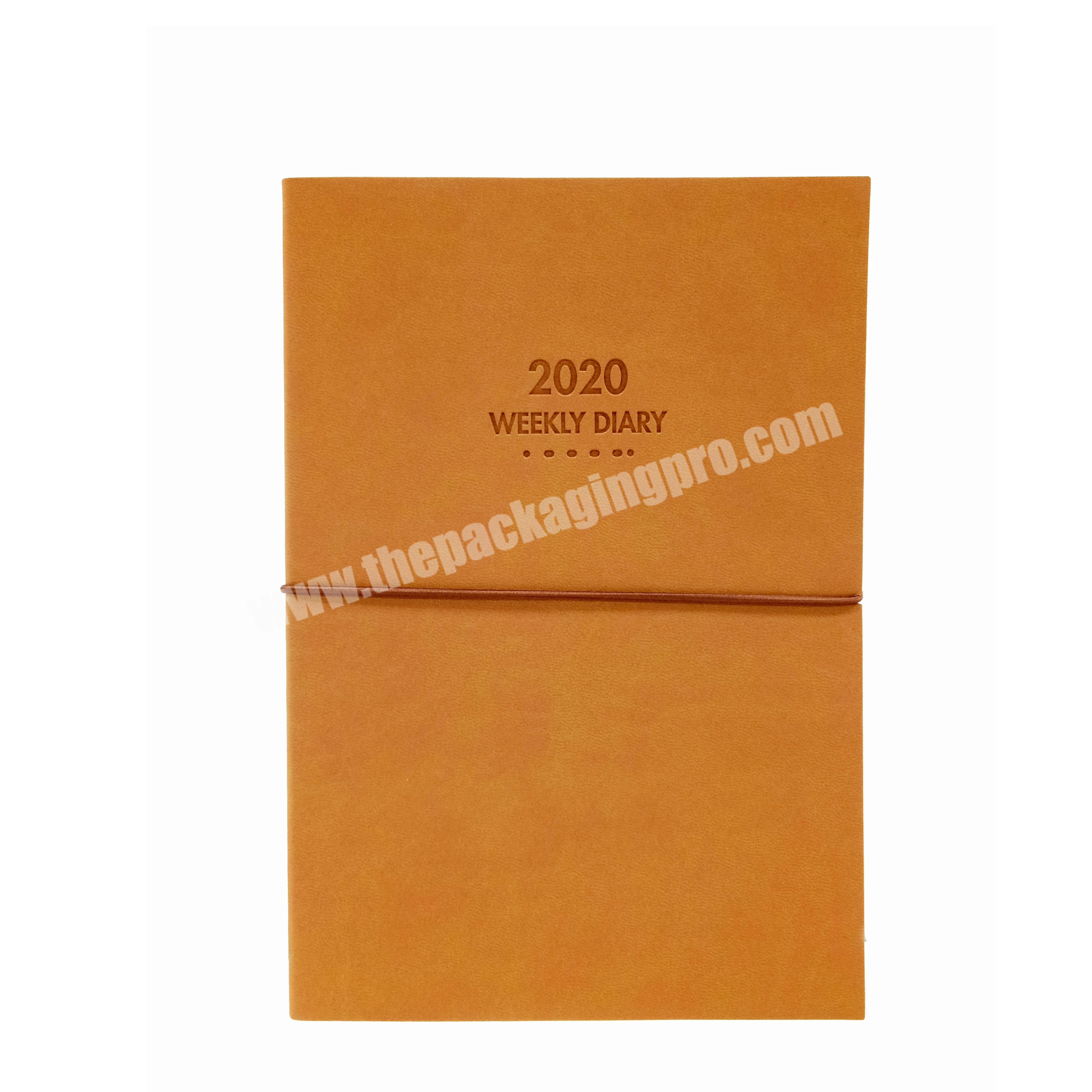 High Quality  Reversible Weekly Diary Soft Cover PU Leather Notebook