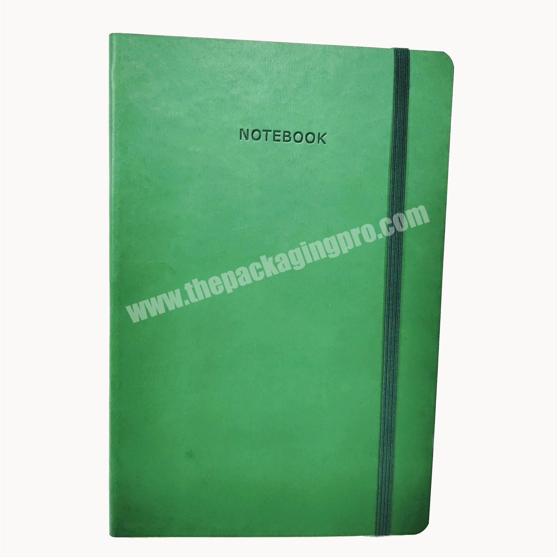 High quality school agenda embossed custom logo notebook recycle paper diary
