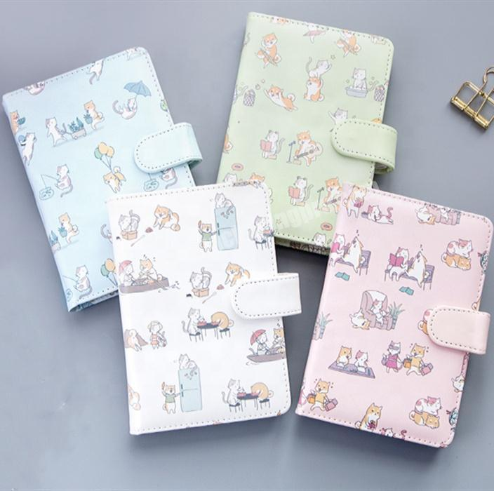 Custom Hot Sale Cartoon Printing Notebook Cute Diary For Student With Snap Tab