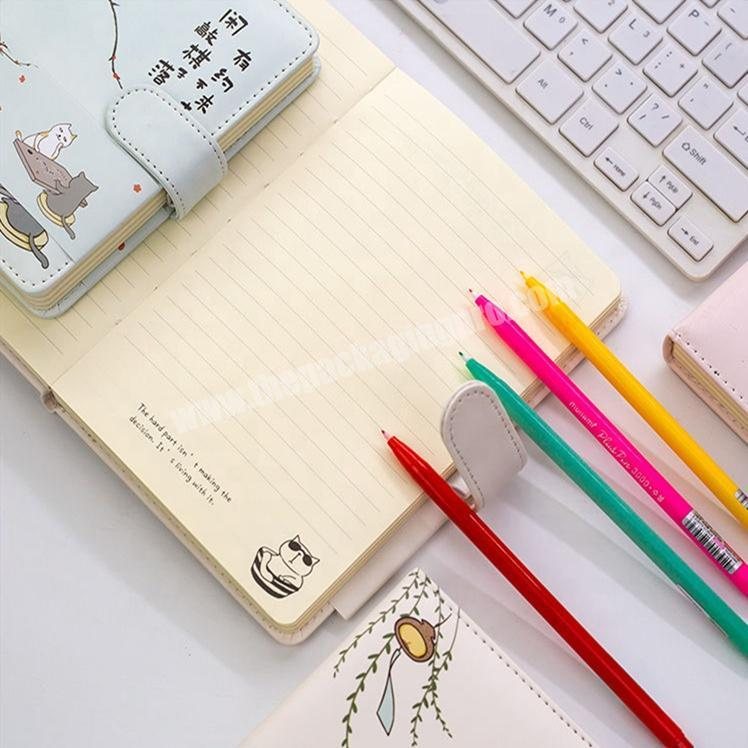 Factory Hot Sale Cartoon Printing Notebook Cute Diary For Student With Snap Tab