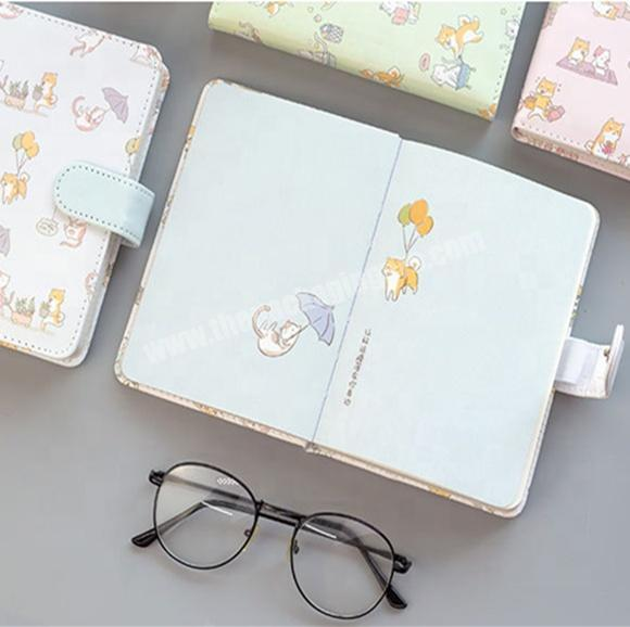 Manufacturer Hot Sale Cartoon Printing Notebook Cute Diary For Student With Snap Tab
