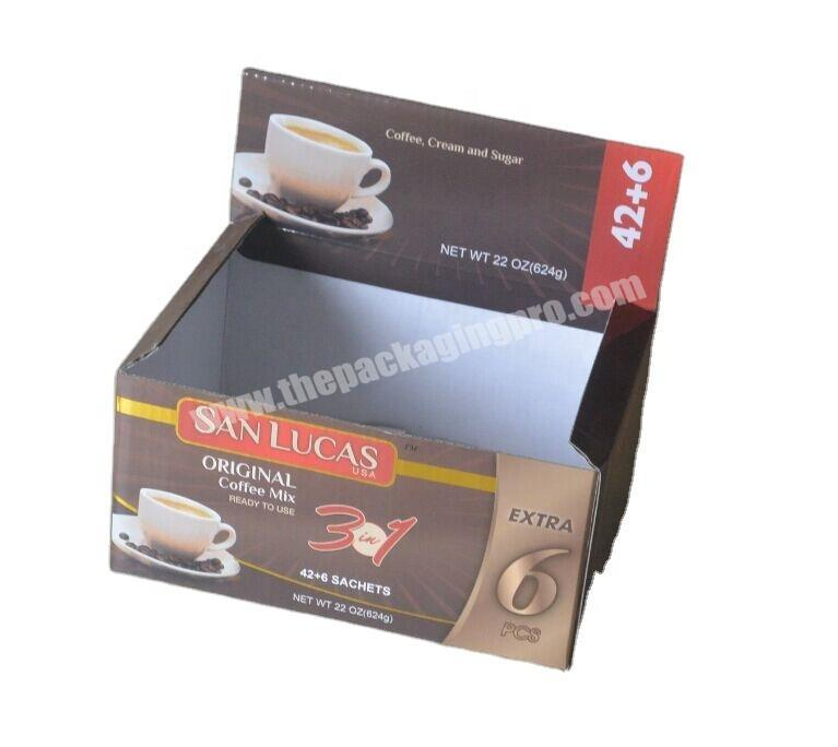 hot sale corrugated carton Color Printing coffee packaging box