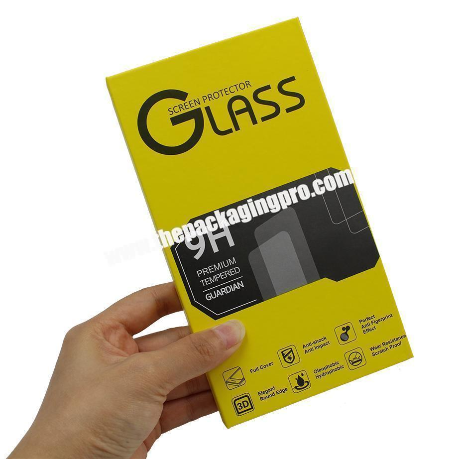 Custom Hot Sale High Quality Handmade Art Book Style Box for Tempered Glass Screen Protector