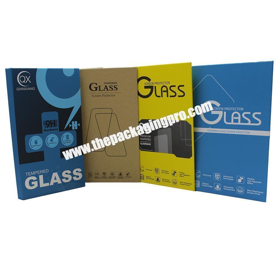 Wholesale Hot Sale High Quality Handmade Art Book Style Box for Tempered Glass Screen Protector