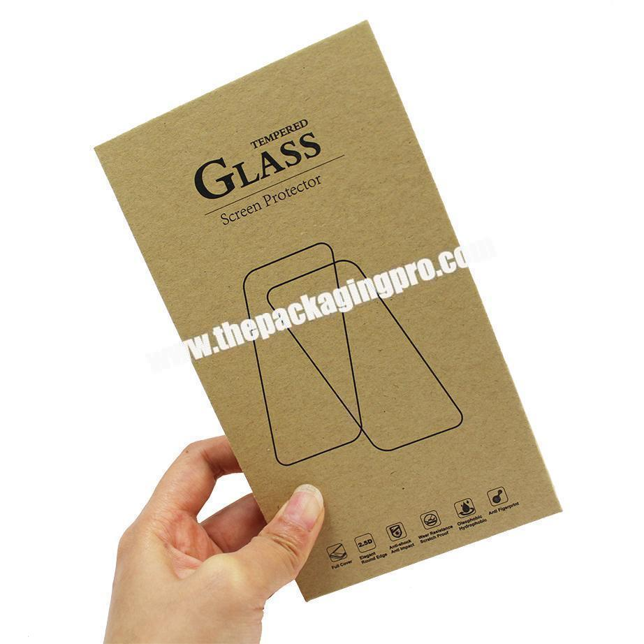 Manufacturer Hot Sale High Quality Handmade Art Book Style Box for Tempered Glass Screen Protector