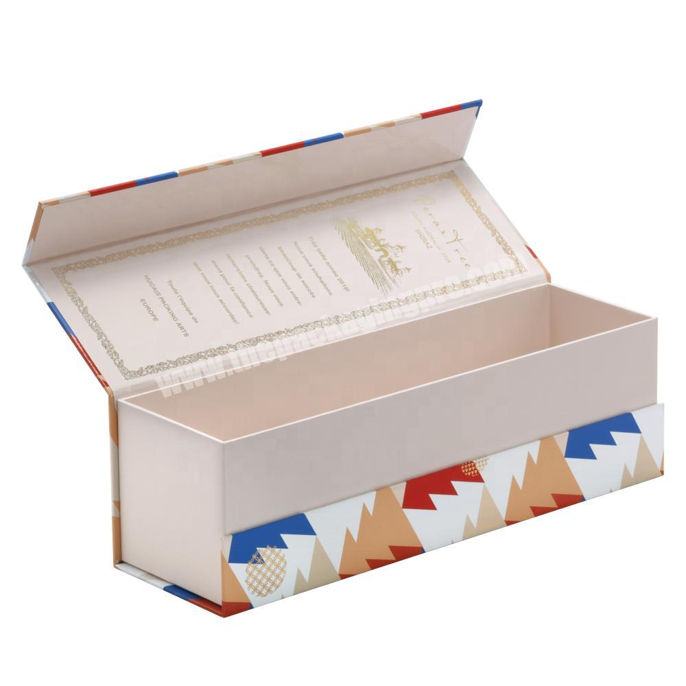 Hot Sale Luxury Traditional Style Customized Printing Lid Hinged Base Rigid Paper Box for WineWhiskyChampagne