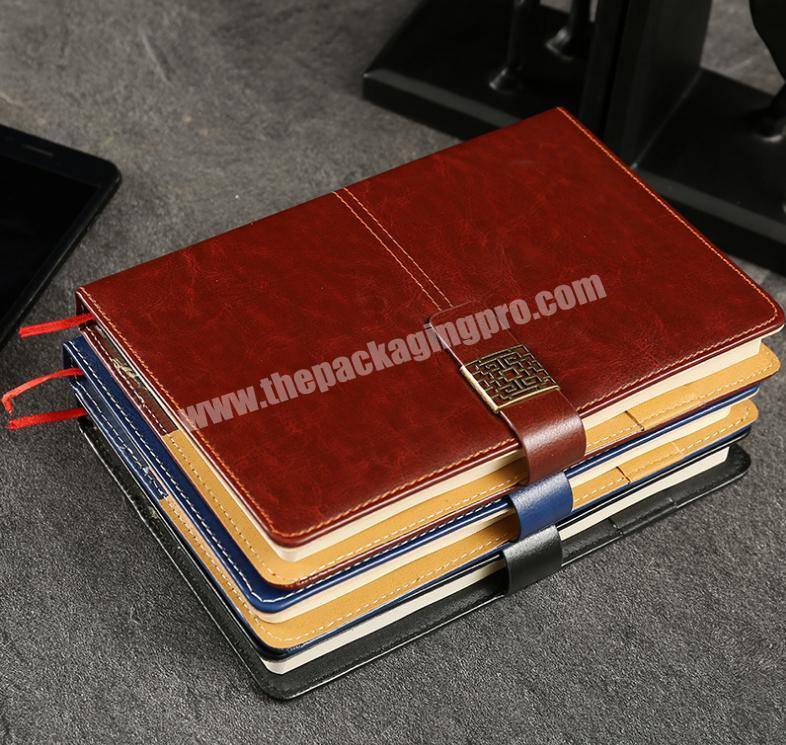 Hot sale spiral leather cover note book with 80 sheets for business school