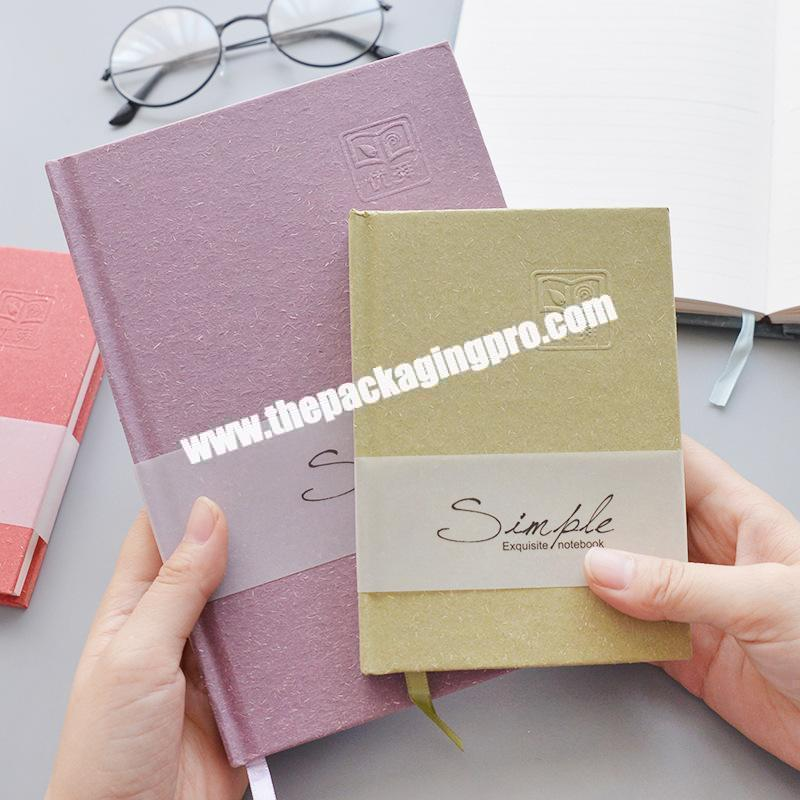Hot Sell Cheap Paper Cover Notebook For School Student Lined Dot Grid Pages Eco-friendly Thick Paper Journal Diary For Office