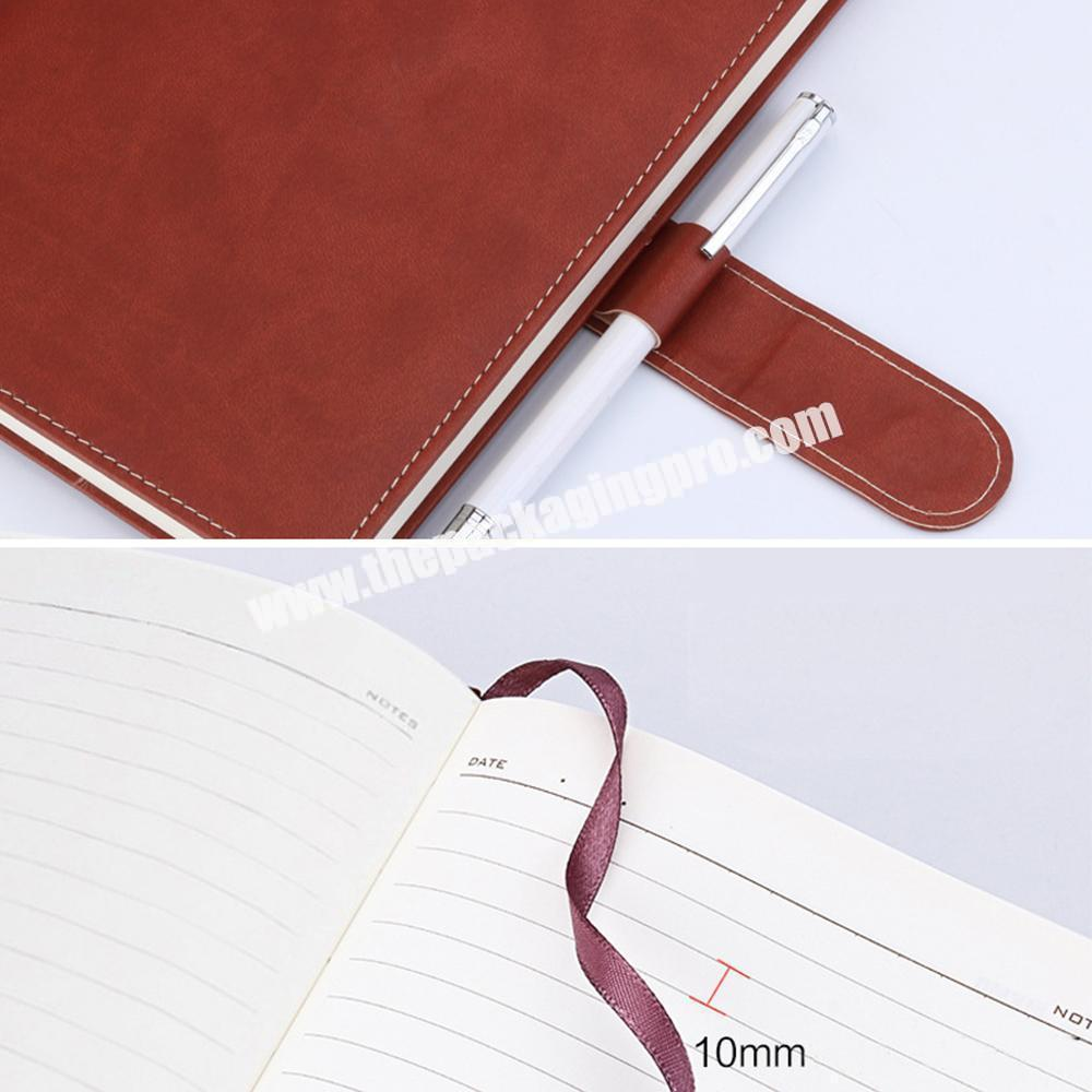 Manufacturer Hot Selling A4 Hardcover PU Leather School Stationery Classmate Undated Notebook