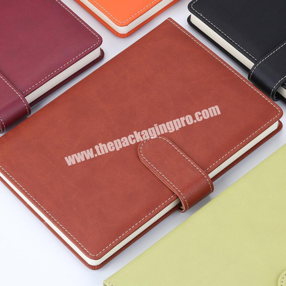 Factory Hot Selling A4 Hardcover PU Leather School Stationery Classmate Undated Notebook