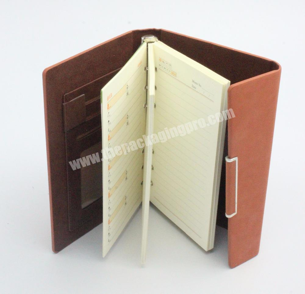 Hot Selling High Quality OEM Cheap A4 Size Print Hardcover Leather Notebook