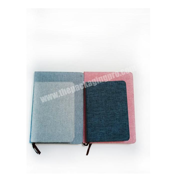 Hot selling linen fabric hardcover notebook in stock