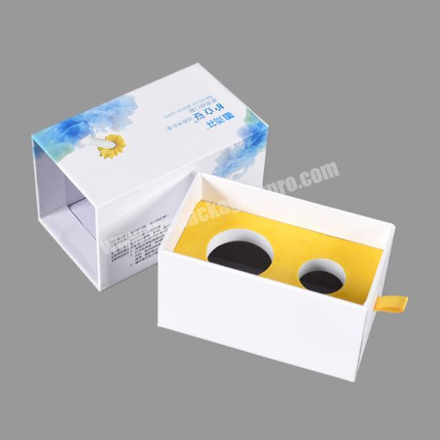 insert sponge packaging mache paper drawer gift boxes with custom logo