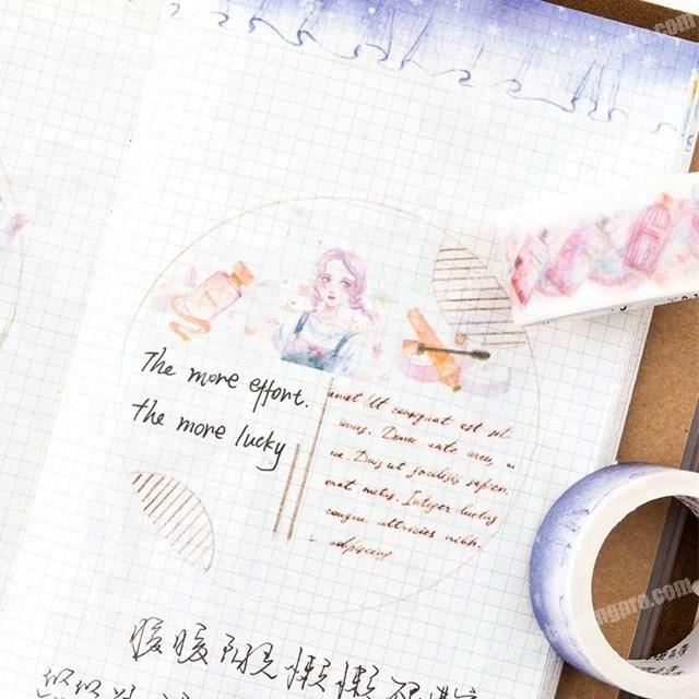 Factory Interesting girl friends' gifts custom printed japanese washi tape wholesale