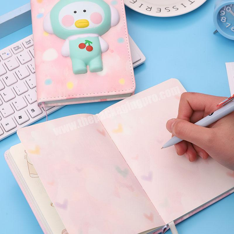 JIUDE factory sell a4 hardcover cute diary book hard cover planner notebook