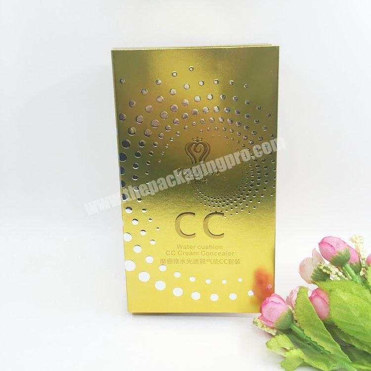 Wholesale Label printed premium gold glitter skin care beauty cosmetic cream paper packaging box factory