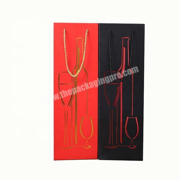 Large Size Custom Printing Red Wine Paper Bag for Shopping Mall Wedding Design