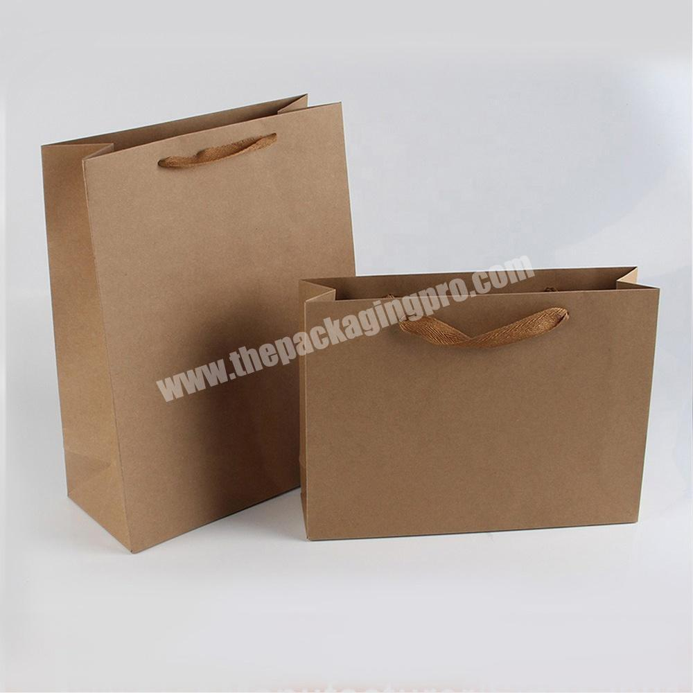 Custom large small flat industrial heavy duty kraft paper bags with flat handle