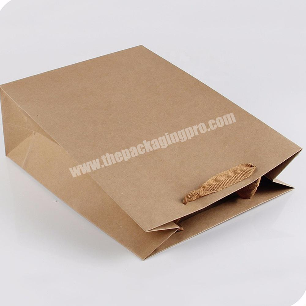 Manufacturer large small flat industrial heavy duty kraft paper bags with flat handle