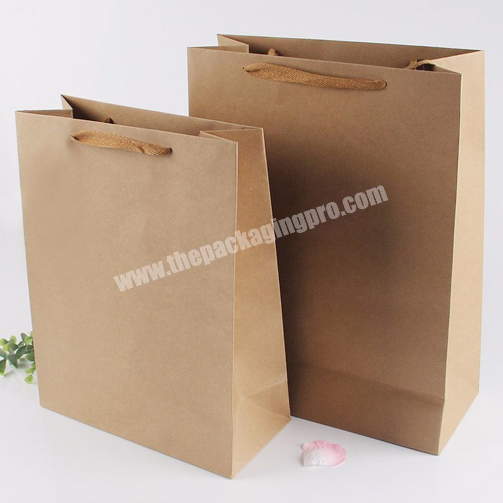Supplier large small flat industrial heavy duty kraft paper bags with flat handle