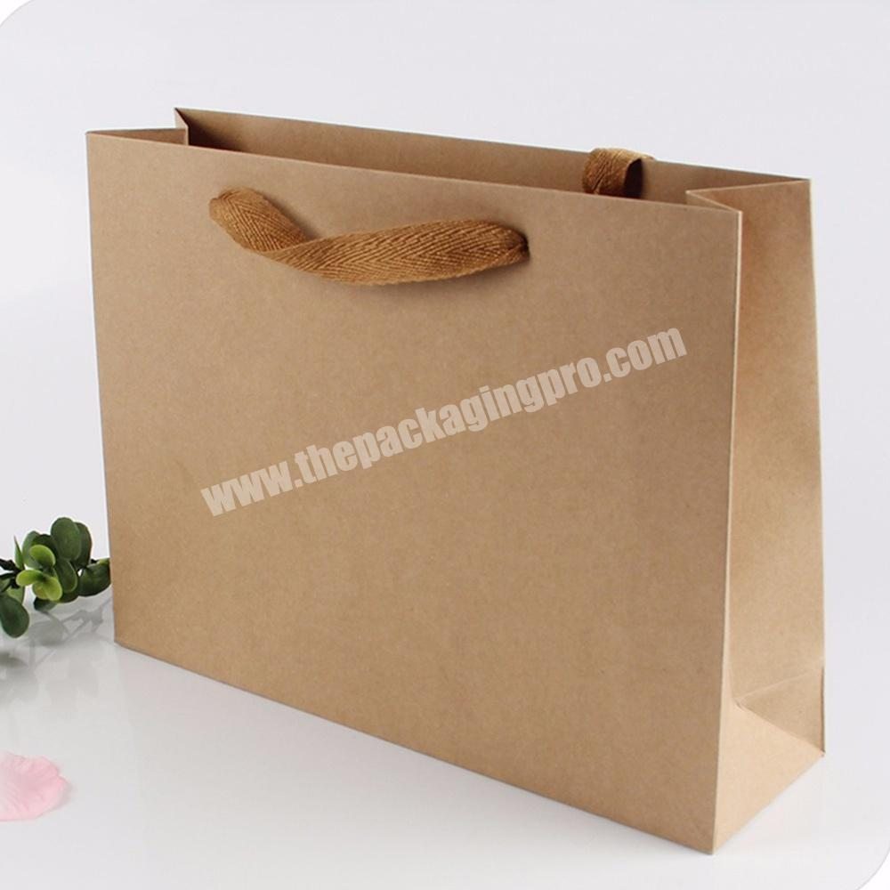 Wholesale large small flat industrial heavy duty kraft paper bags with flat handle