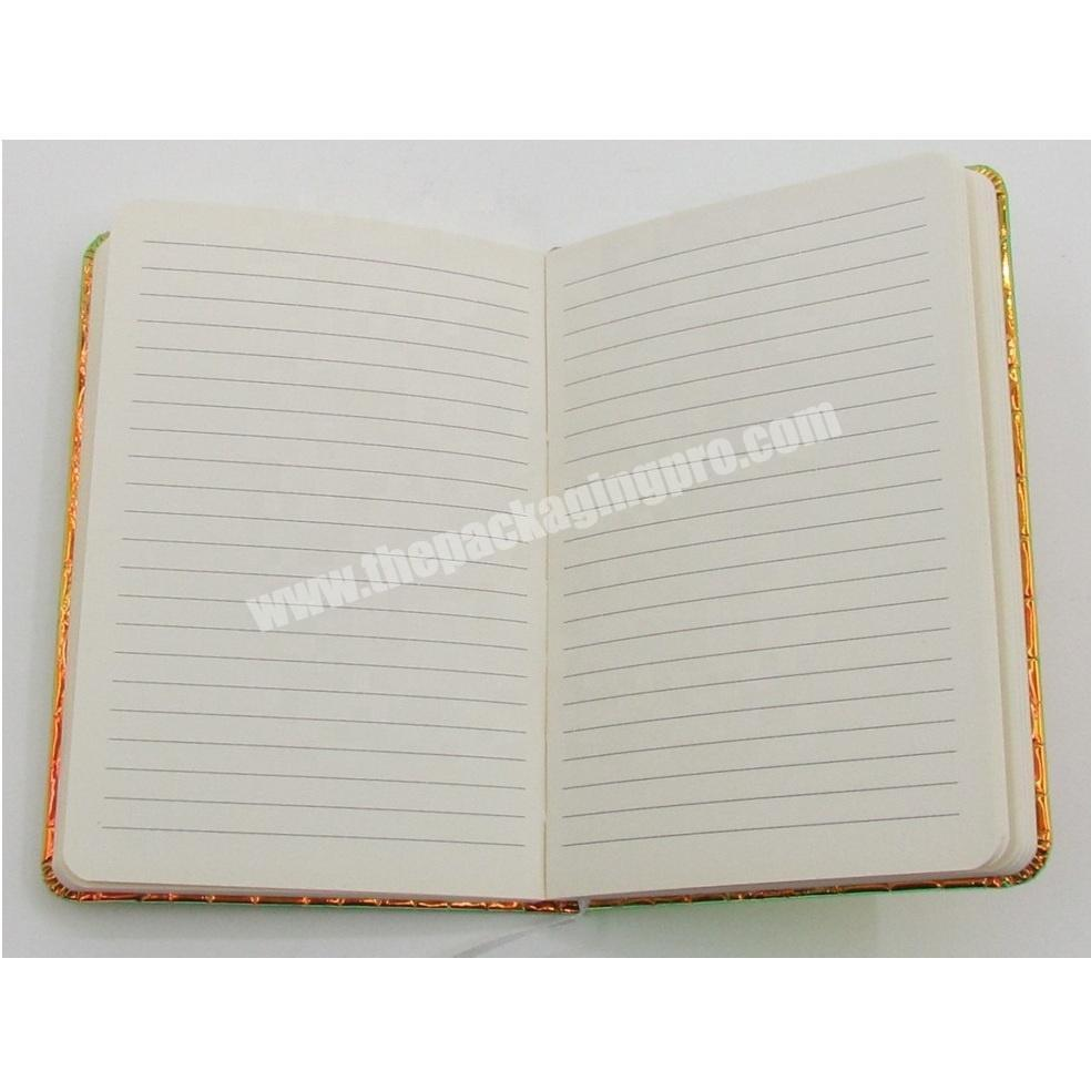 Supplier Laser Leather Notebook Lined Blank Inner Pages Diary A5 Customized Journal