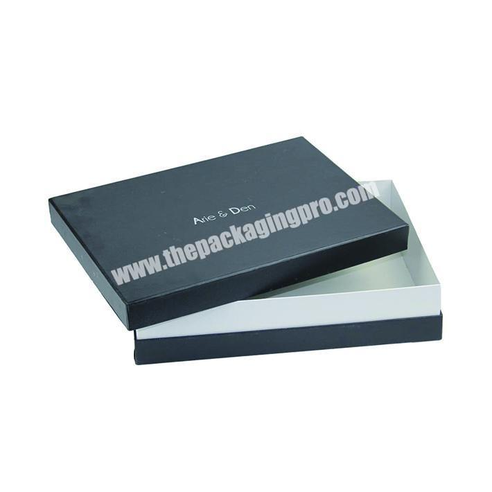 Lid off paperboard gift box for clothes packaging customized