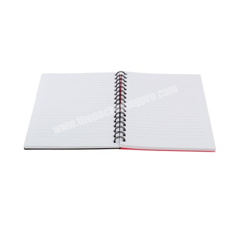 Manufacturer Logo printed cardboard  hard cover custom notebook