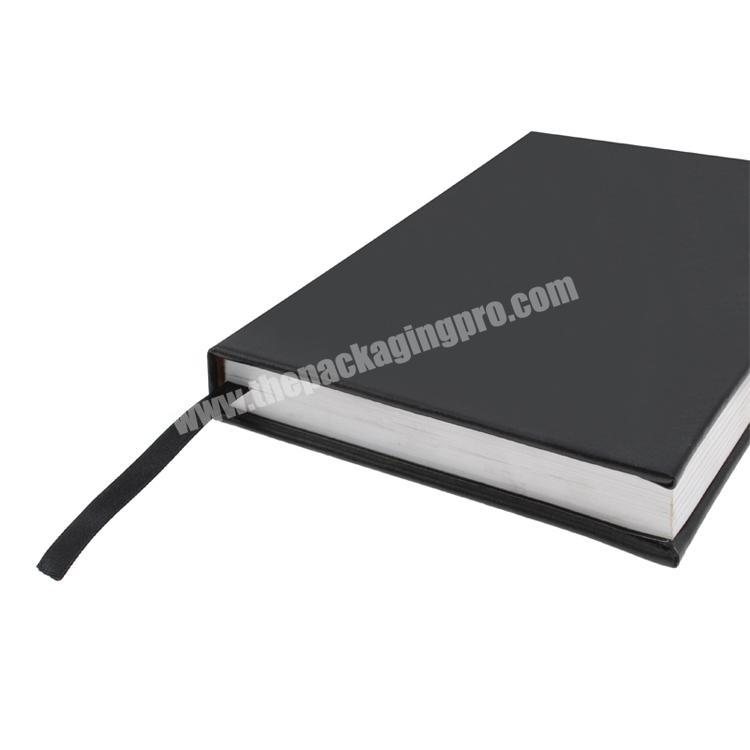 Wholesale Logo printed cardboard  hard cover custom notebook